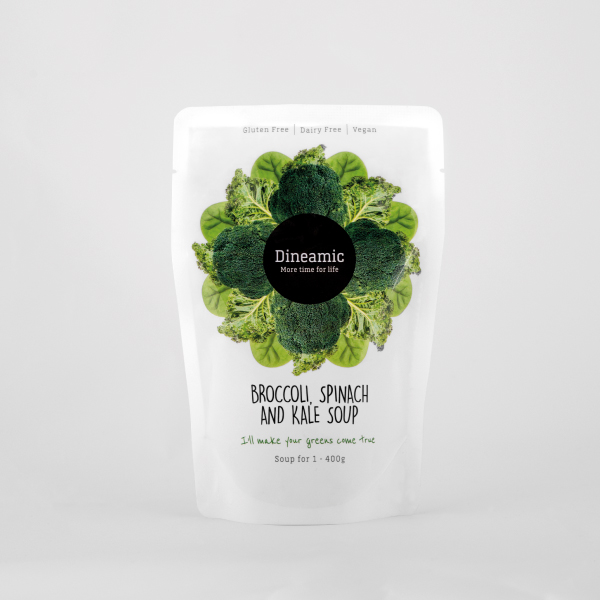 Dineamic Broccoli, Spinach and Kale Soup Pack Design