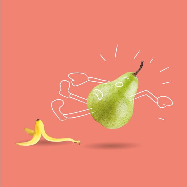 The Fruit Box Humorous Illustration