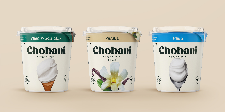 Chobani Core Range Packaging Refresh