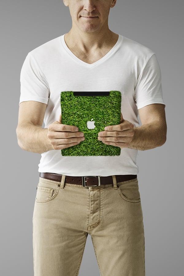 Davidson Branding We Grow Digital iPad Grass Portrait