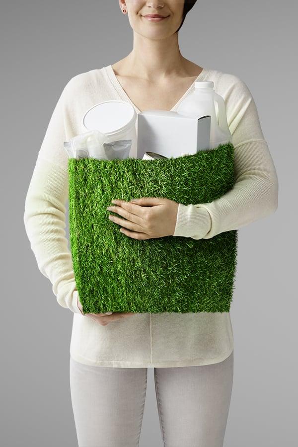Davidson Branding We Grow Business Fast Moving Consumer Goods FMCG Packaging Grass Bag Portrait