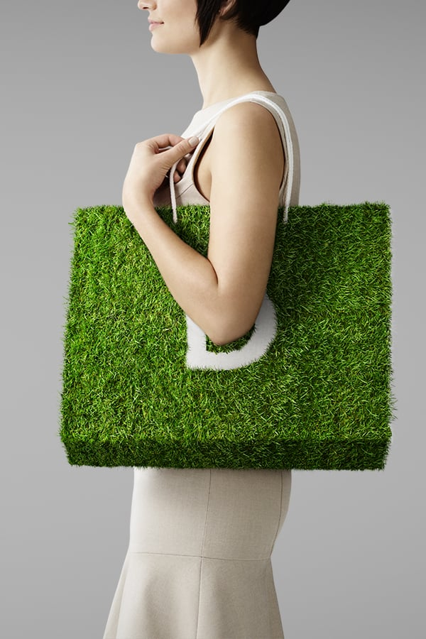 Davidson Branding We Grow Business Retail Grass Bag Portrait