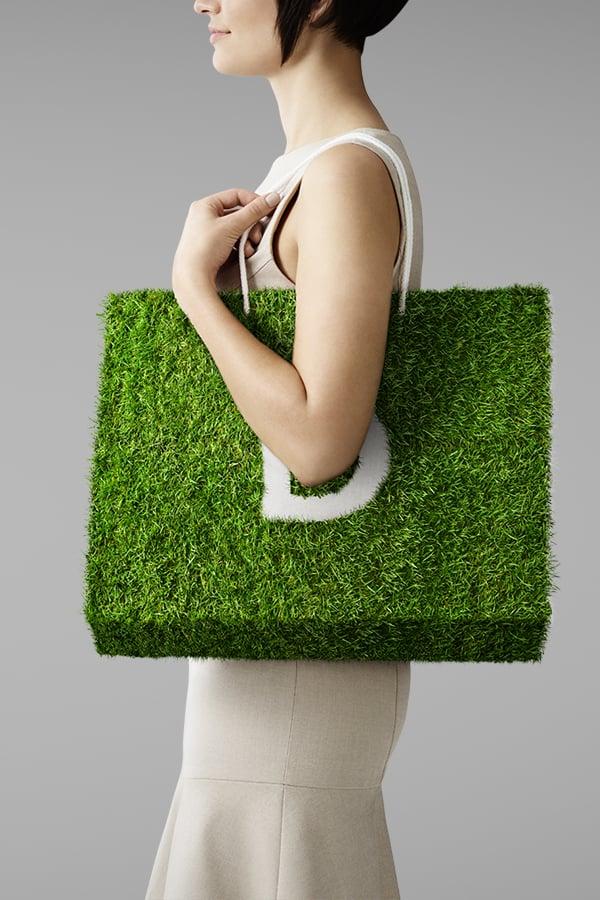 Davidson Branding We Grow Business Retail Grass Bag Portrait