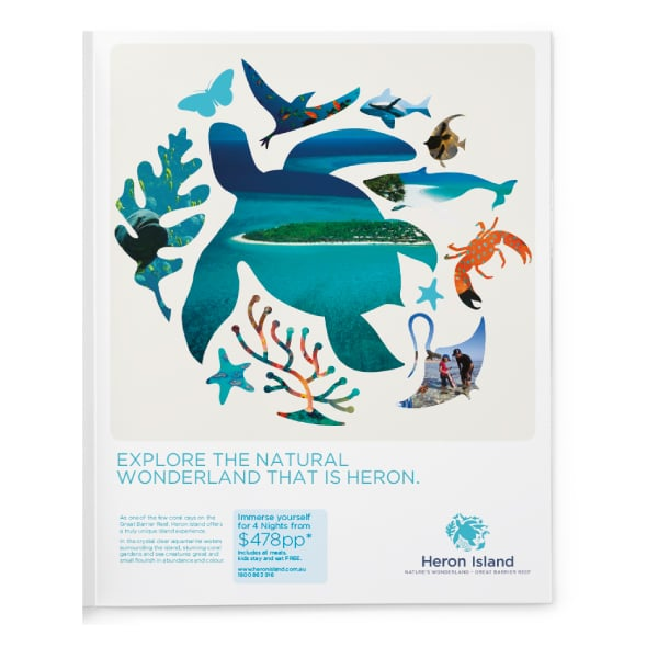 Davidson Branding Corporate Heron Island Brand Identity Logo Design Brochure Nature Wonderland Water Wildlife