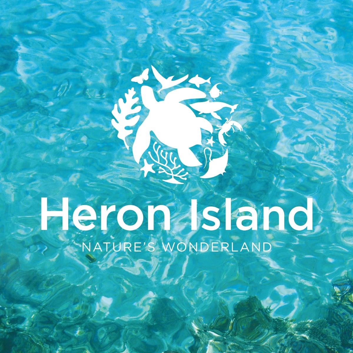 Davidson Branding Corporate Heron Island Brand Identity Logo Design Nature Wonderland Water Wildlife