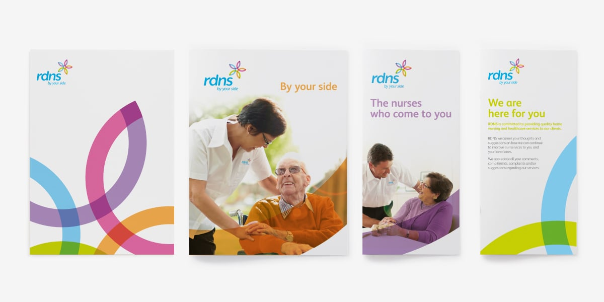 Davidson Branding Corporate Royal District Nursing Service RDNS Brand Strategy Brand Identity Visual Language Brochure