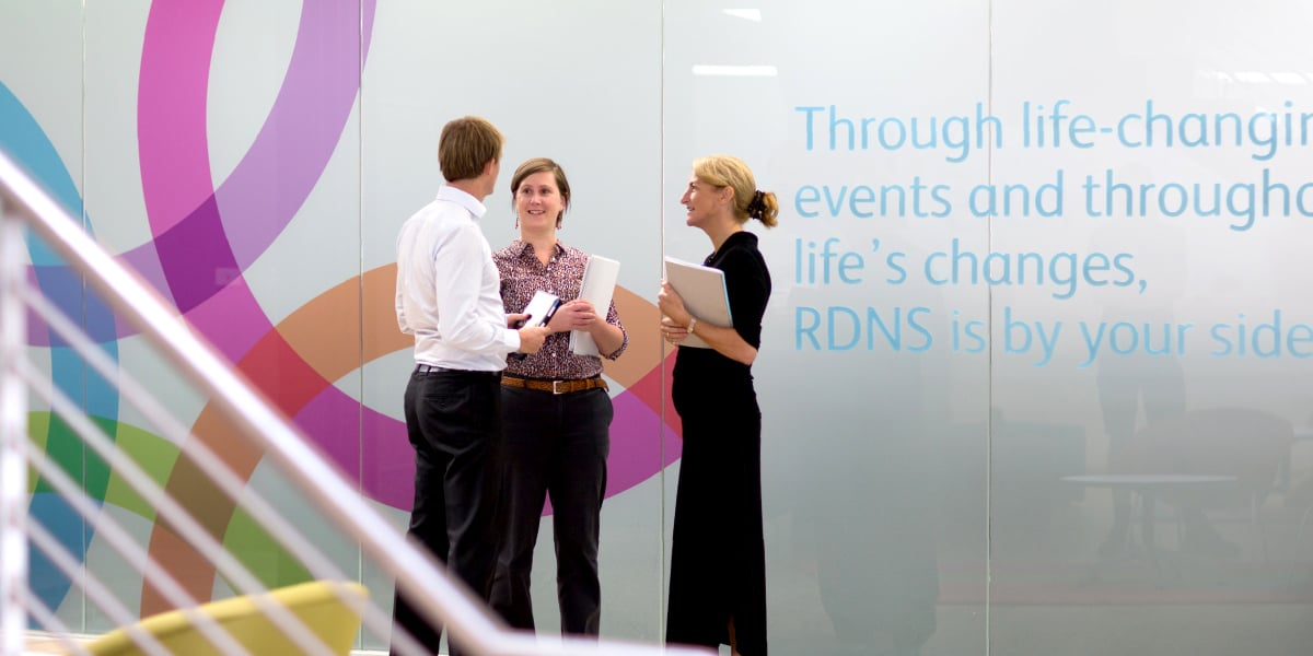 Davidson Branding Corporate Royal District Nursing Service RDNS Brand Strategy Brand Identity Visual Language Wall Graphics