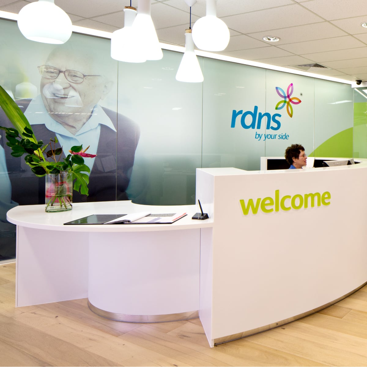 Davidson Branding Corporate Royal District Nursing Service RDNS Brand Identity Visual Language Wall Graphics Signage