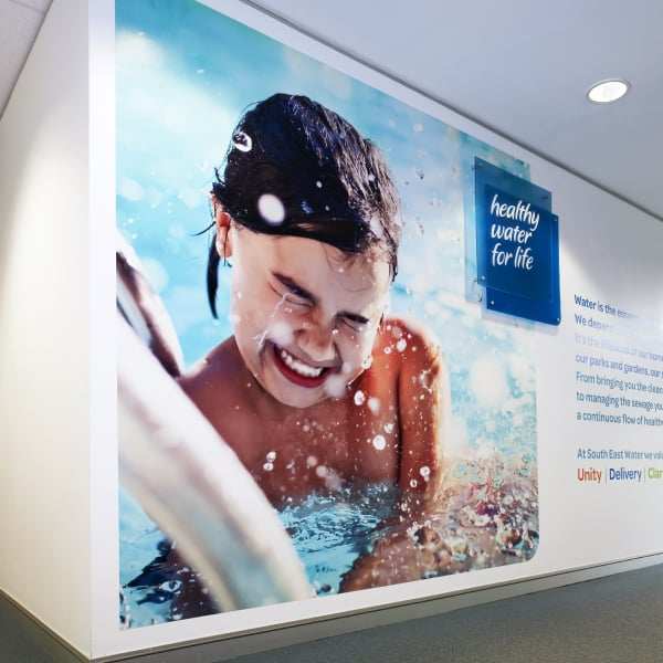 Davidson Branding South East Water Melbourne Corporate Brand Identity Brand Strategy Photography Office Wall Graphics