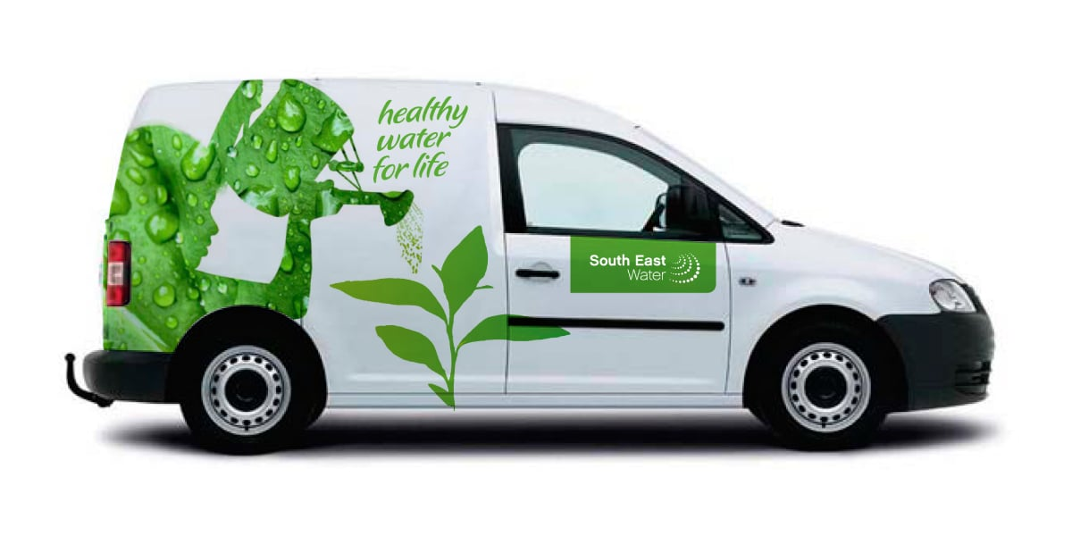 Davidson Branding South East Water Melbourne Corporate Brand Identity Brand Strategy Silhouette Illustration Vehicle Graphics Livery