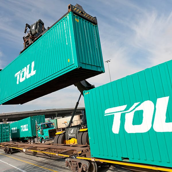 Davidson Branding Toll Group Corporate Brand Strategy Brand Identity Logo Transport Container
