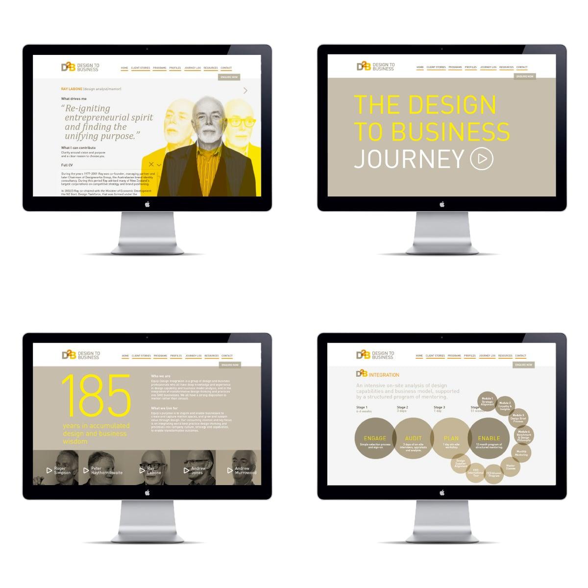 Davidson Branding Digital D2B Design to Business Consultants Website Pages Set