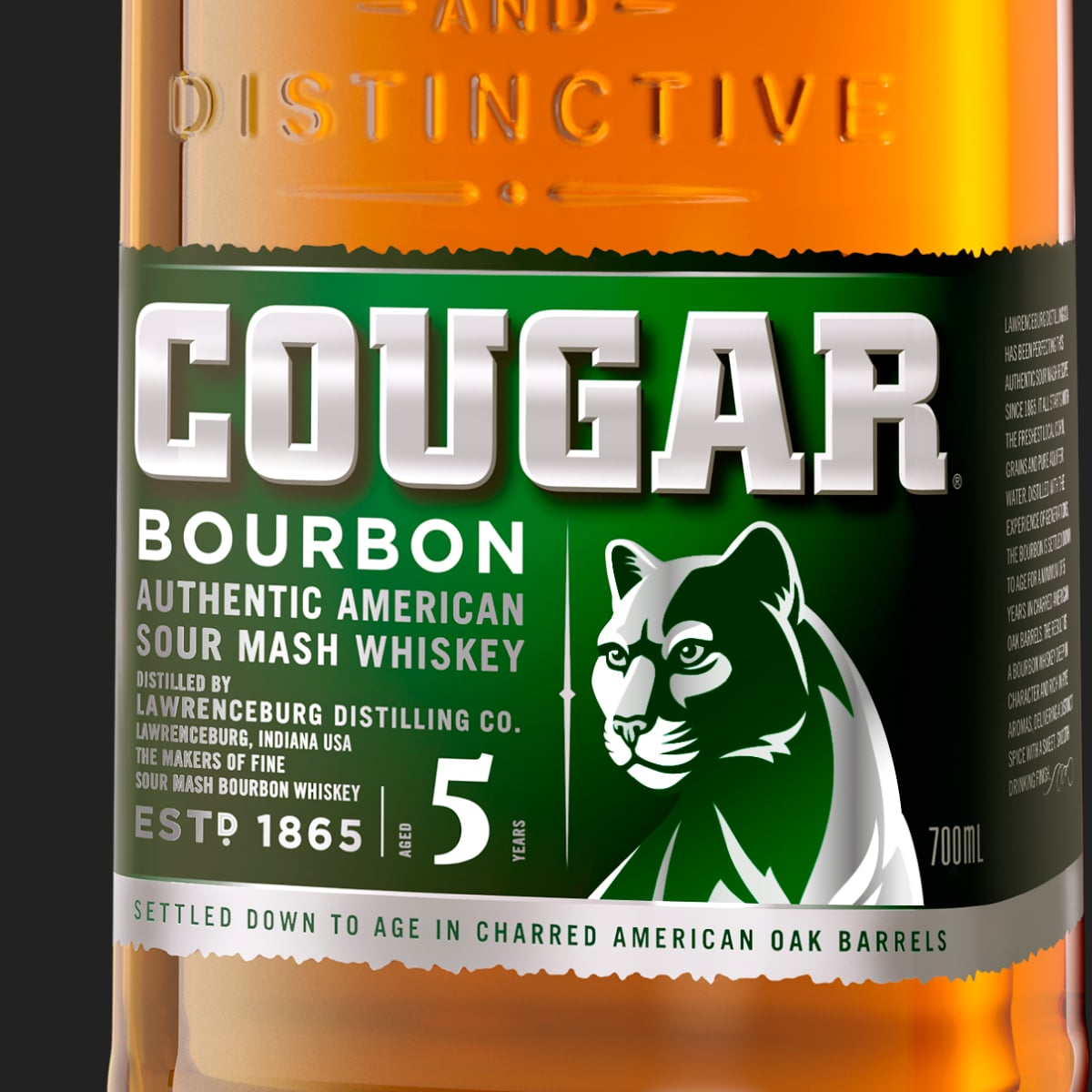 Davidson Branding Carlton United Breweries FMCG Cougar Bourbon Packaging Label