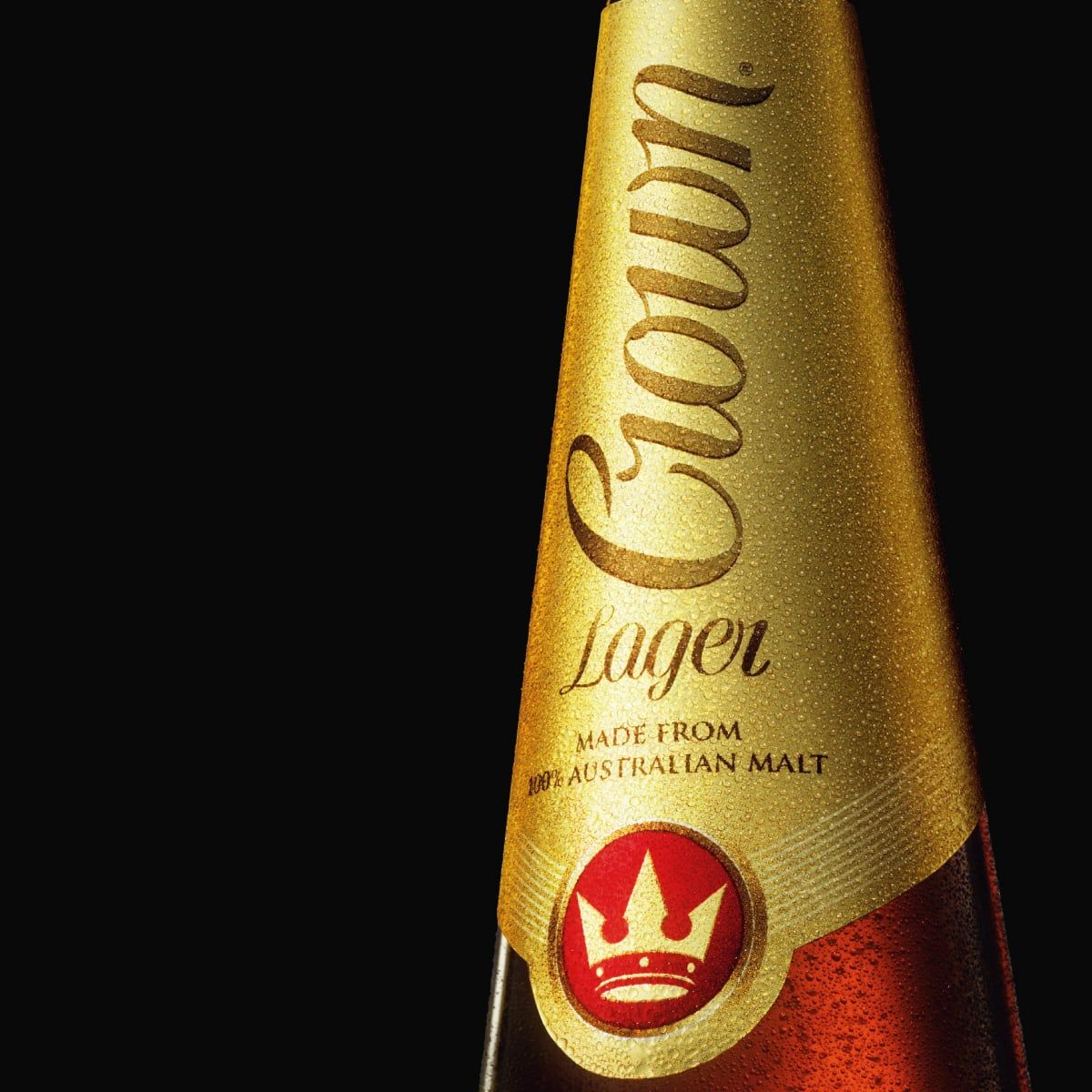 Davidson Branding FMCG Crown Lager Carlton United Breweries Packaging Bottle Design