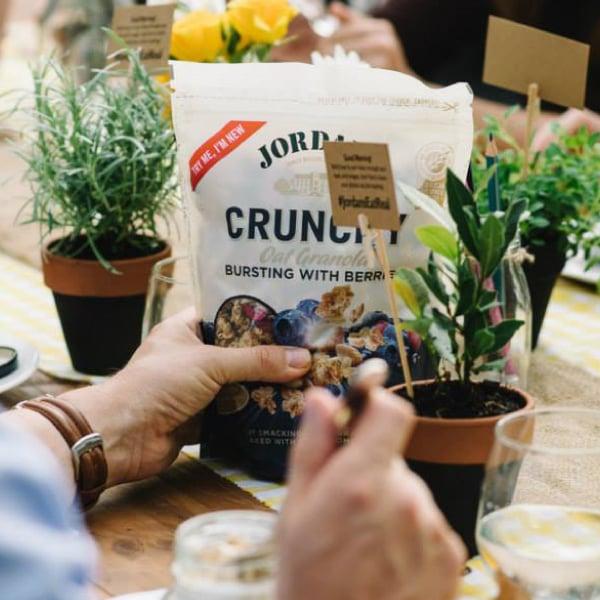 Davidson Branding FMCG Packaging Jordans Crunchy Oat Granola Tasting
