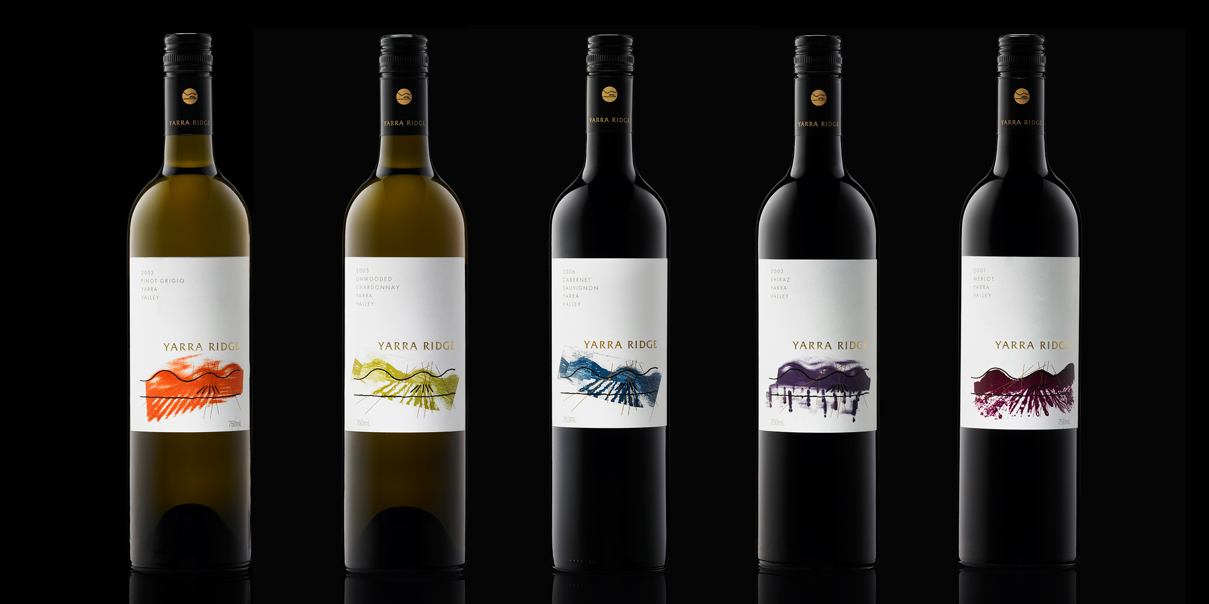 Davidson Branding FMCG Packaging Treasury Wine Estates Yarra Ridge Wine Range