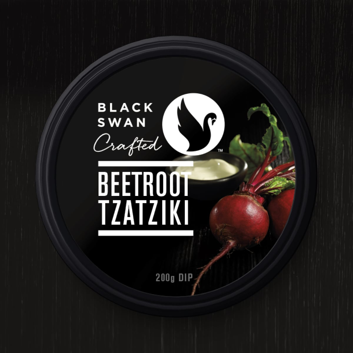 Davidson Branding FMCG Black Swan Crafted Packaging Beetroot Tzatziki