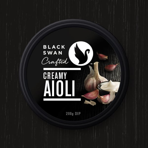 Davidson Branding FMCG Black Swan Crafted Packaging Creamy Aioli