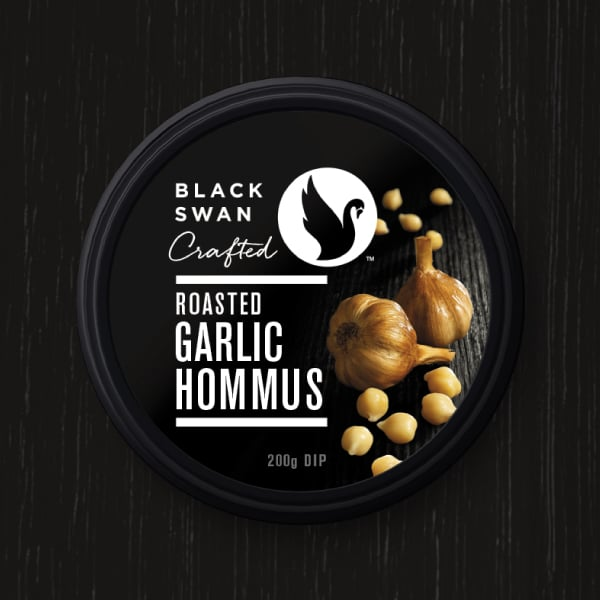 Davidson Branding FMCG Black Swan Crafted Packaging Garlic Hommus