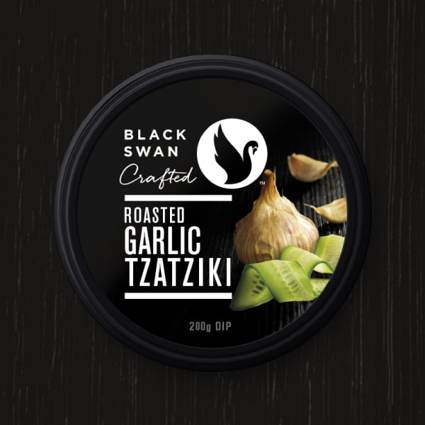 Davidson Branding FMCG Black Swan Crafted Packaging Garlic Tzatziki