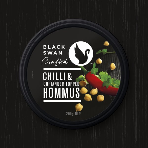 Davidson Branding FMCG Black Swan Crafted Packaging Chilli Hommus