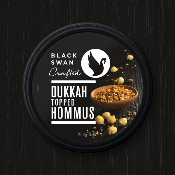 Davidson Branding FMCG Black Swan Crafted Packaging Dukkah Hommus