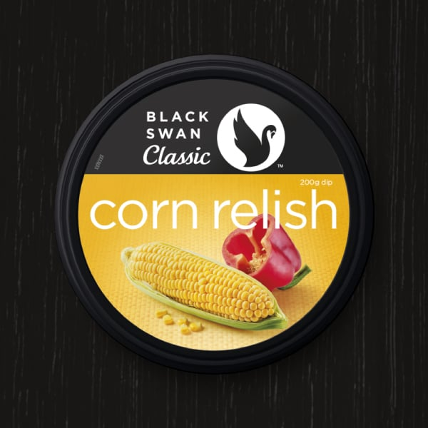 Davidson Branding FMCG Black Swan Classic Packaging Corn Relish