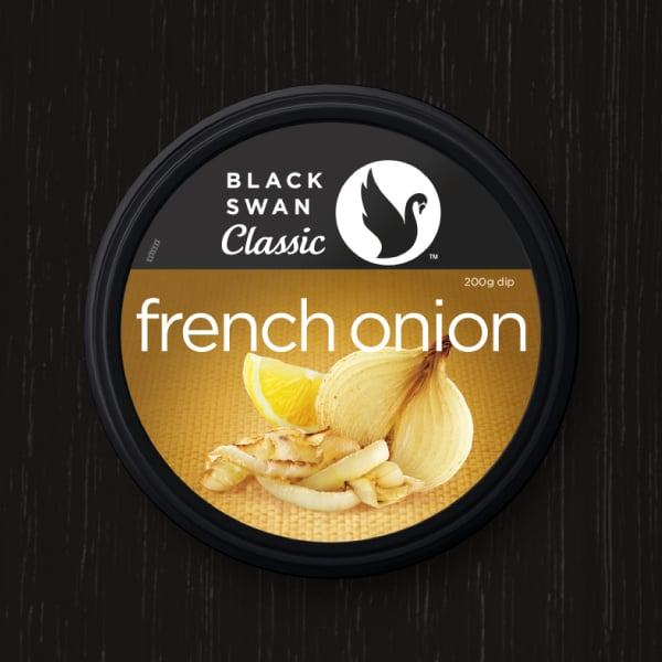Davidson Branding FMCG Black Swan Classic Packaging French Onion