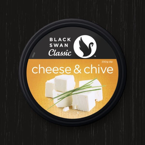 Davidson Branding FMCG Black Swan Classic Packaging Cheese Chive