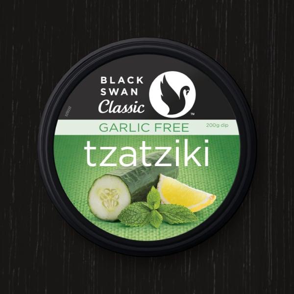 Davidson Branding FMCG Black Swan Classic Packaging Garlic Free Tzatziki