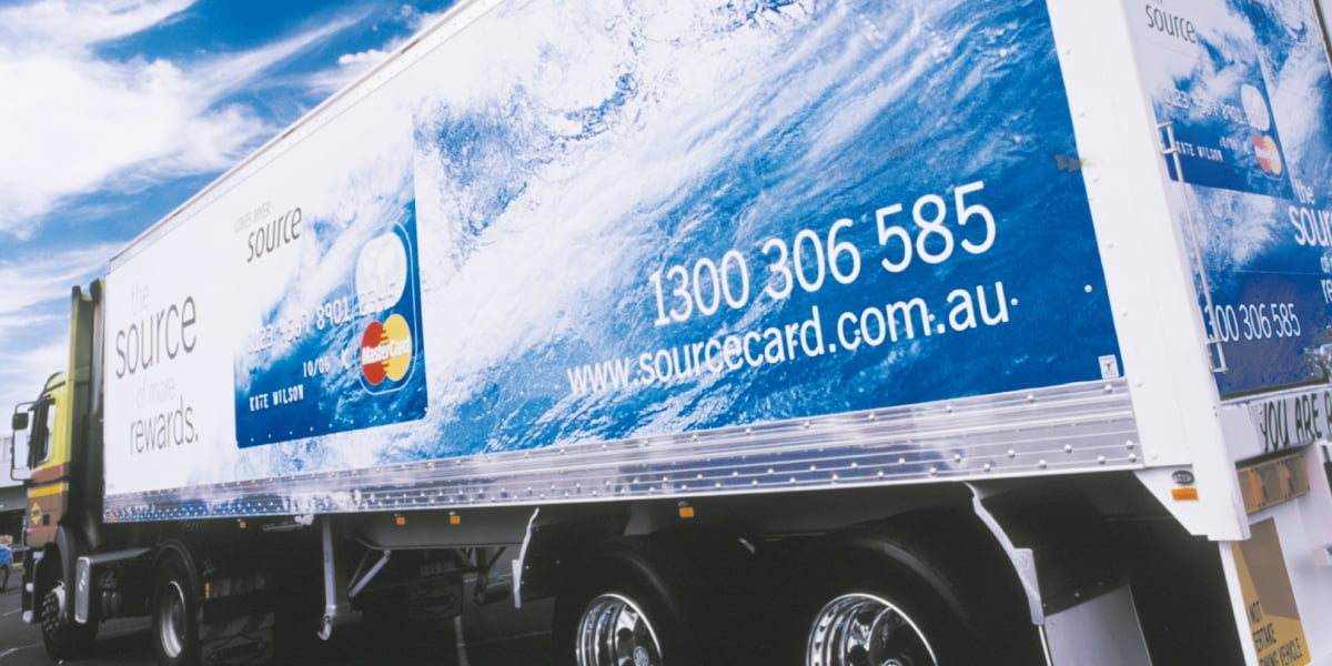 Davidson Branding Retail Coles Myer Source Card Truck Vehicle Livery