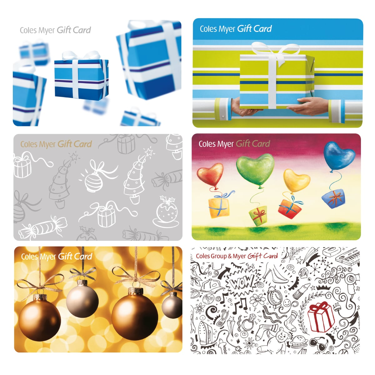 Davidson Branding Retail Coles Myer Gift Card Set