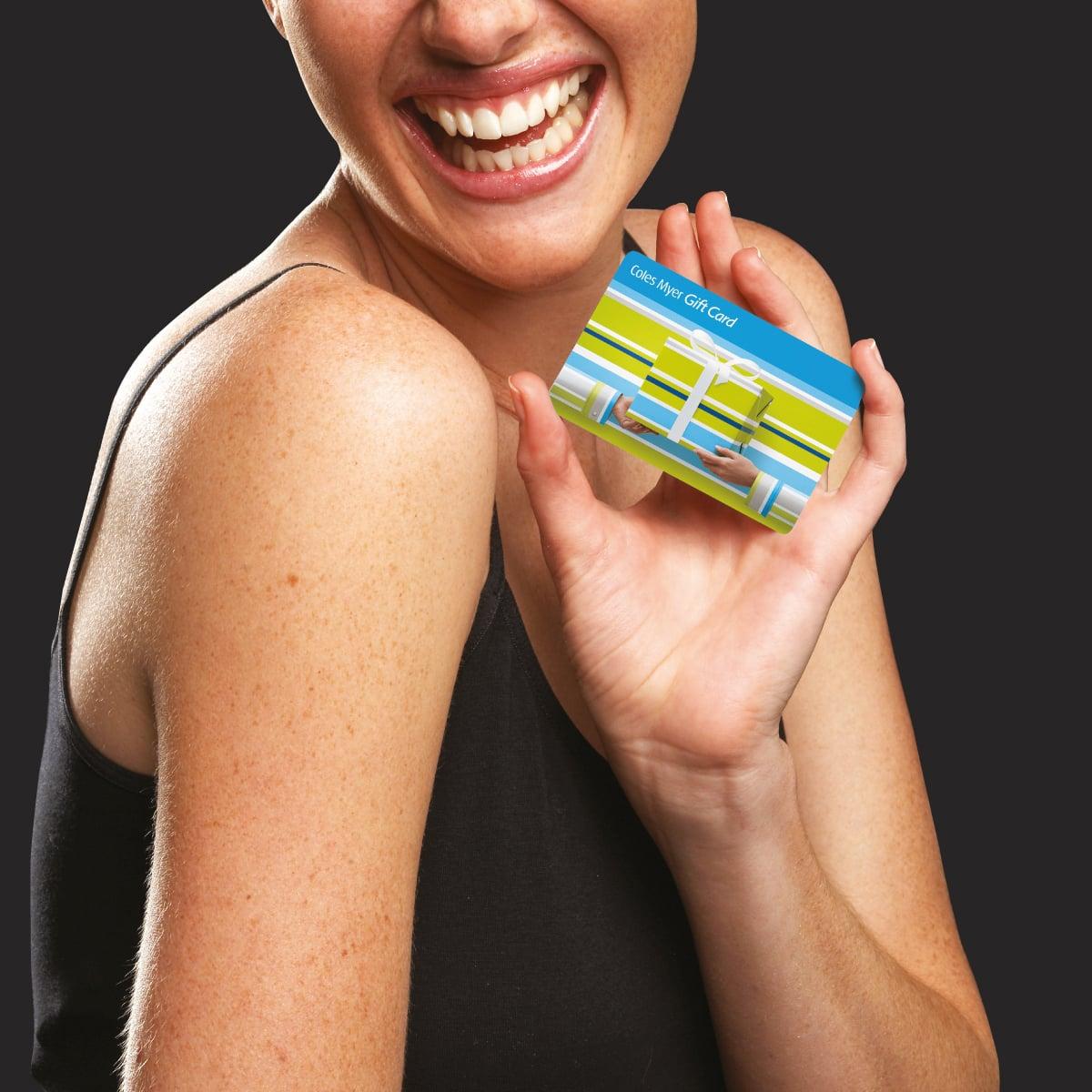 Davidson Branding Retail Coles Myer Gift Card Model Smile