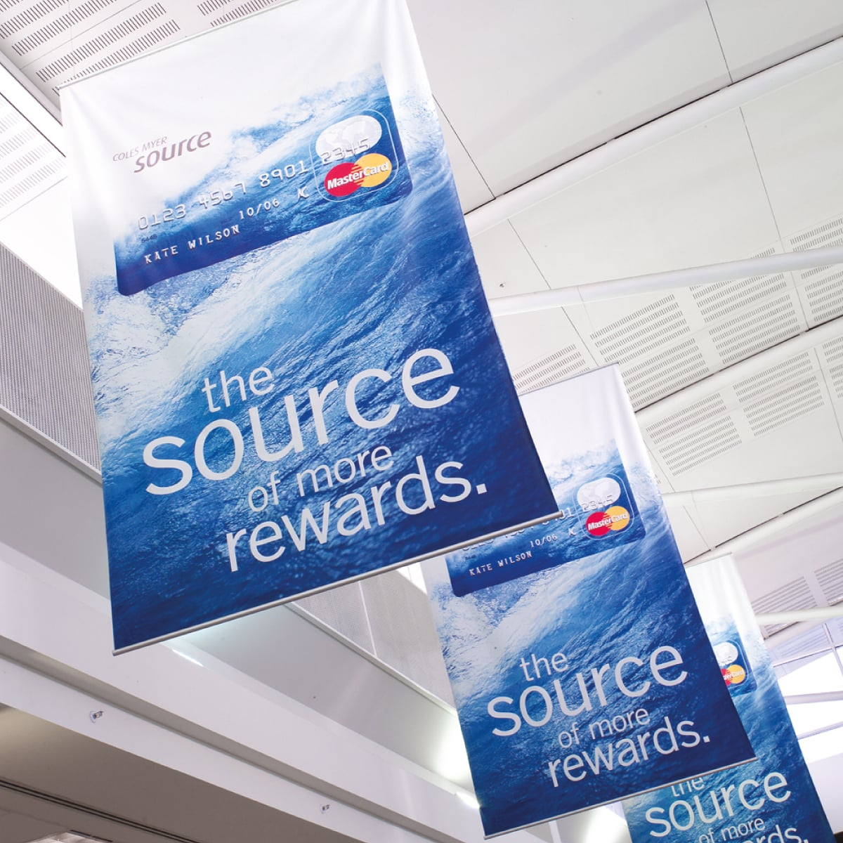 Davidson Branding Retail Coles Myer Source Card Banner