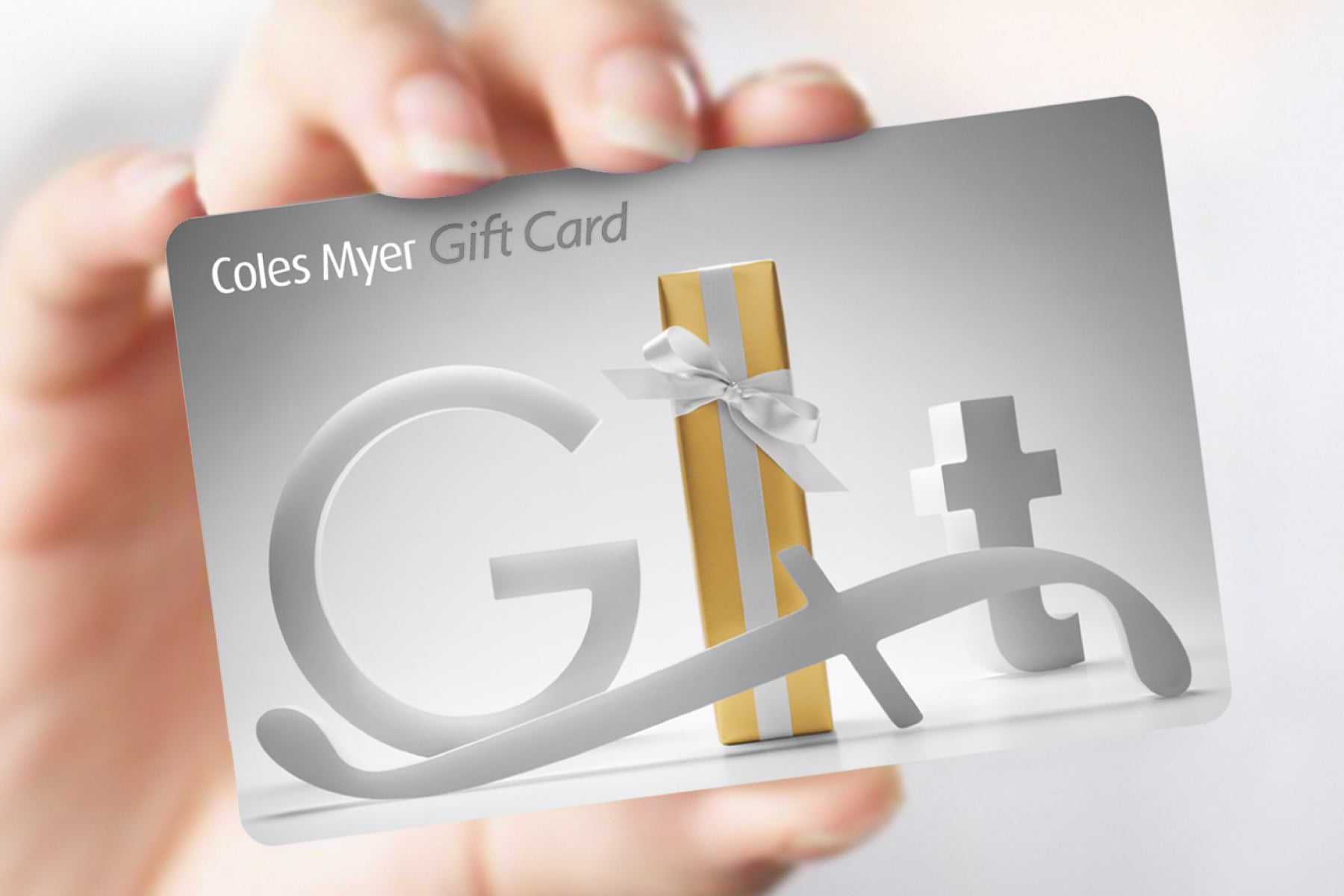 Davidson Branding Retail Coles Myer Gift Card Present Box
