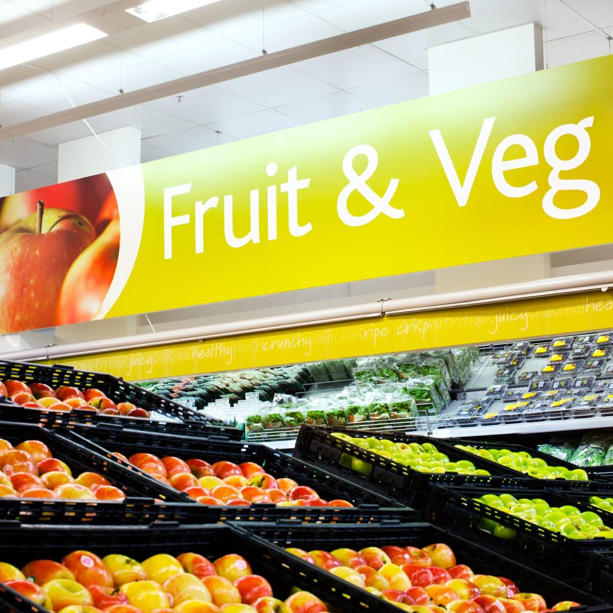 Davidson Branding Retail Coles Supermarket Signage Fruit Veg