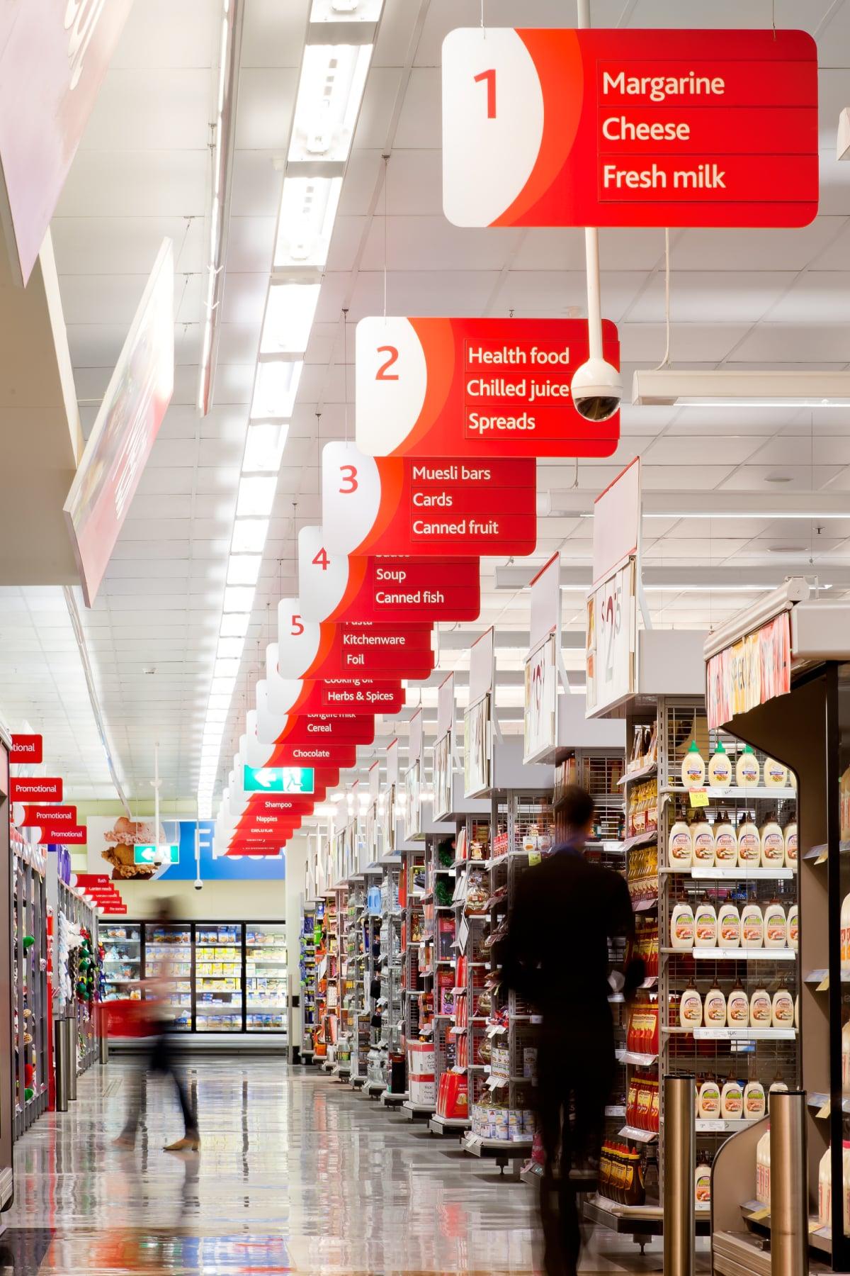Davidson Branding Retail Coles Supermarket Aisle Wayfinding Signage