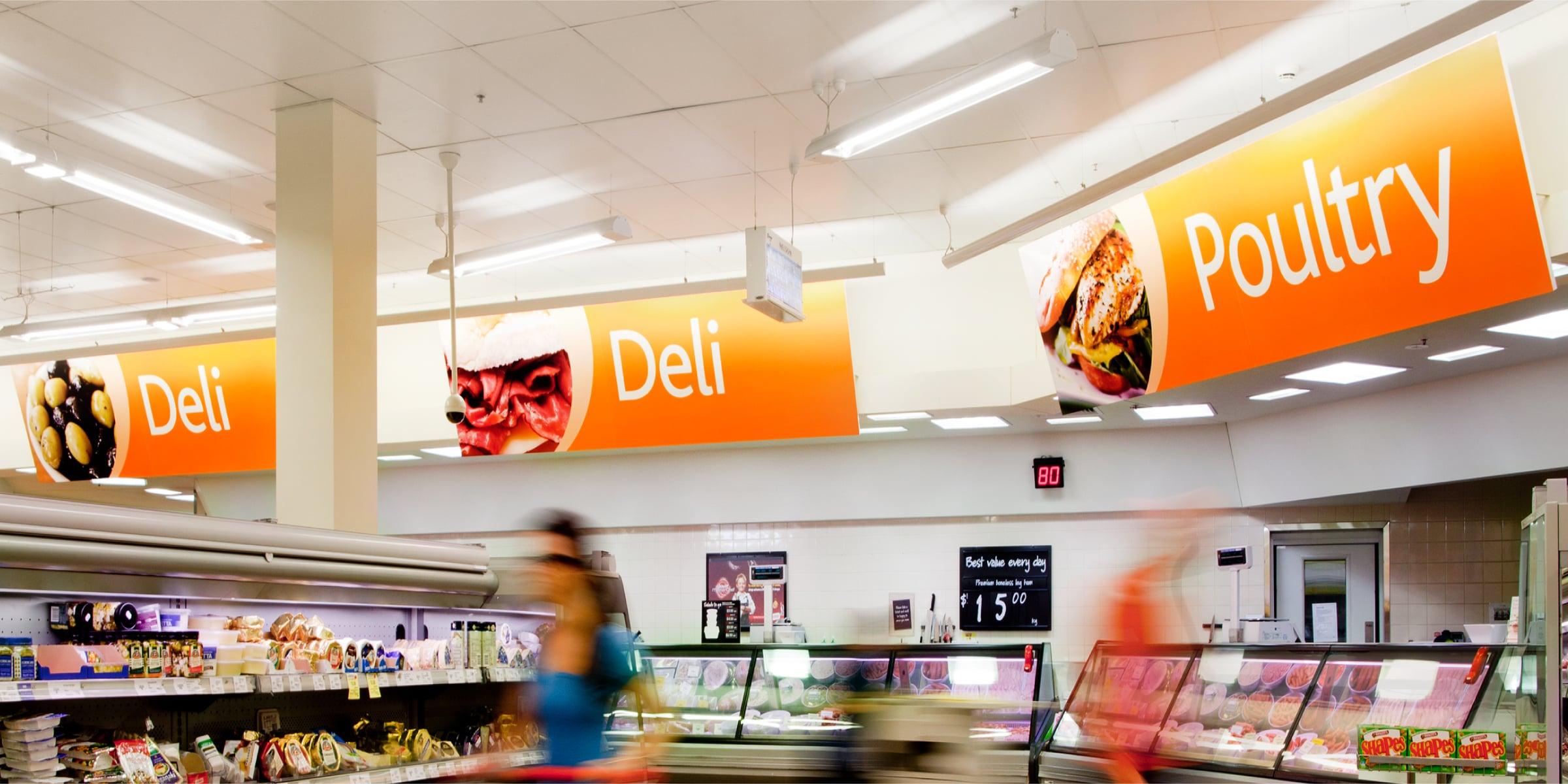 Davidson Branding Retail Coles Supermarket Aisle Deli Signage