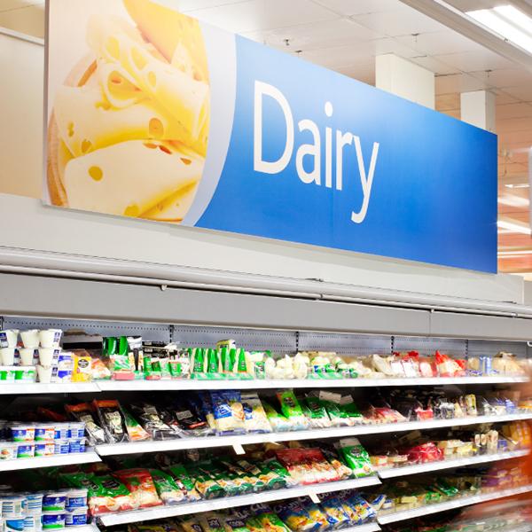 Davidson Branding Retail Coles Supermarket Signage Dairy