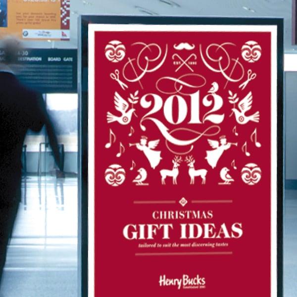 Davidson Branding Retail Henry Bucks Christmas Poster Airport