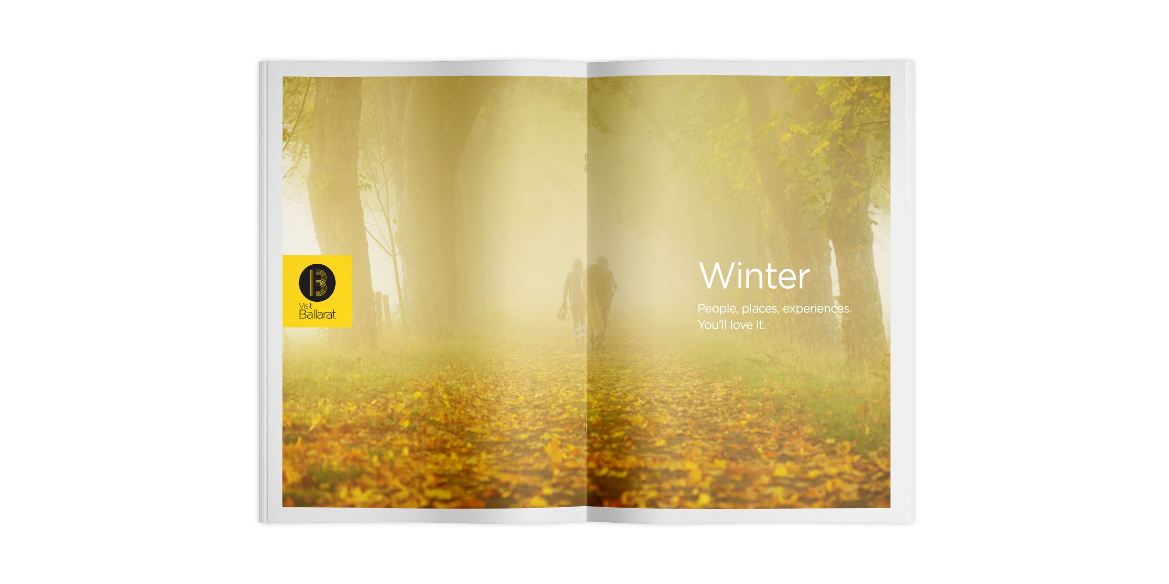 Visit Ballarat Brand Brochure Spread Layout Design