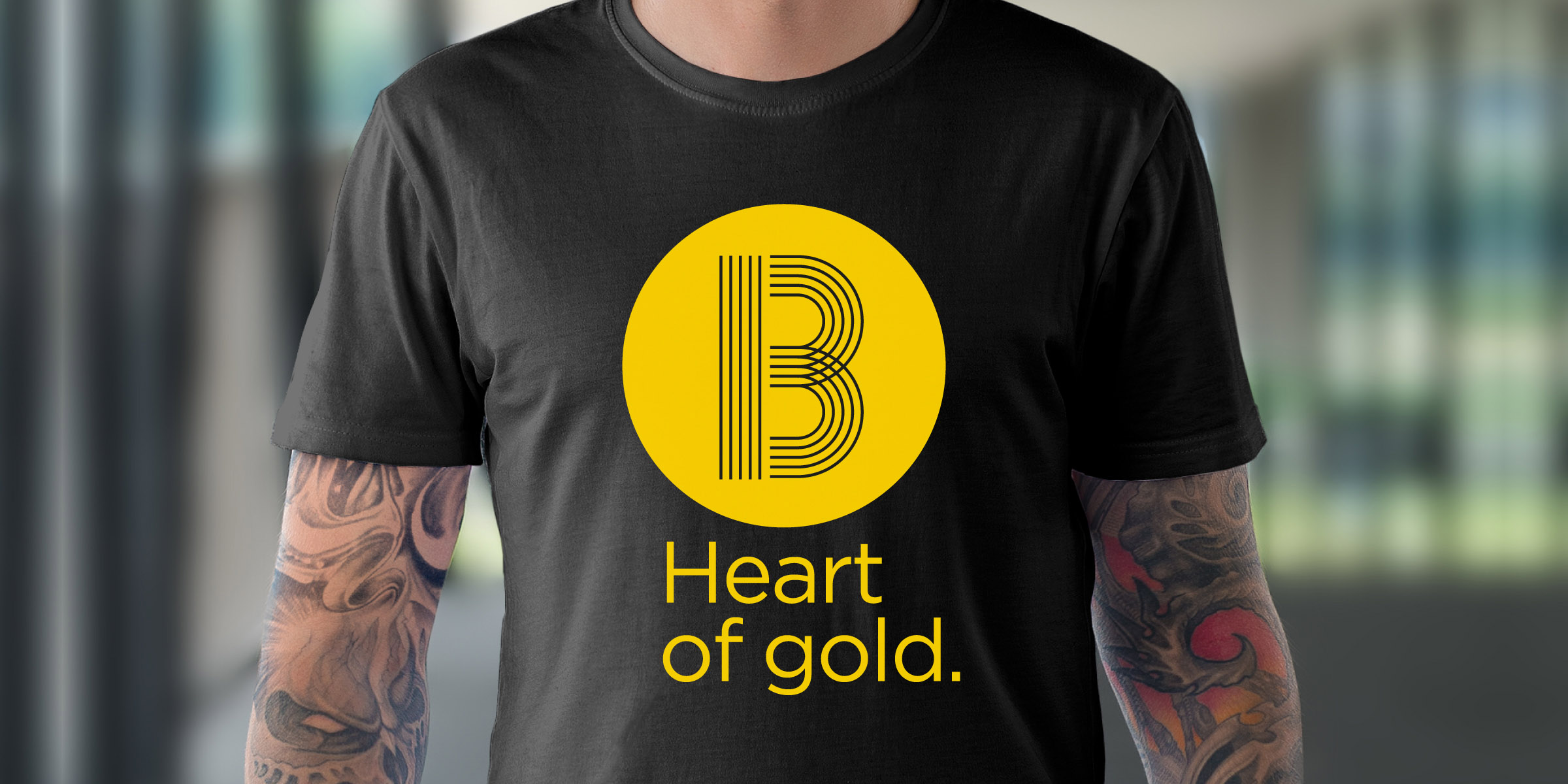 Visit Ballarat Brand Promotional T-shirt Heart of Gold Design