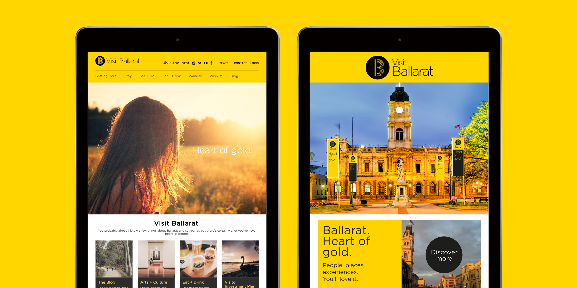 Visit Ballarat Brand Website Design
