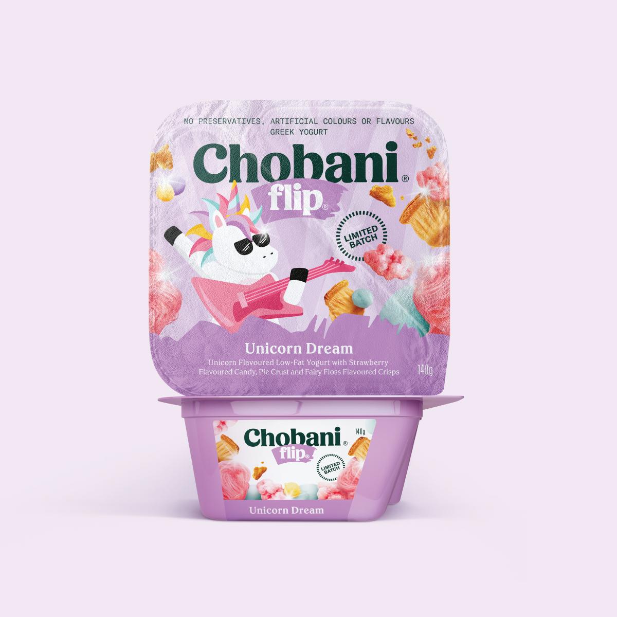 Chobani Yogurt Unicorn Packaging Design FMCG