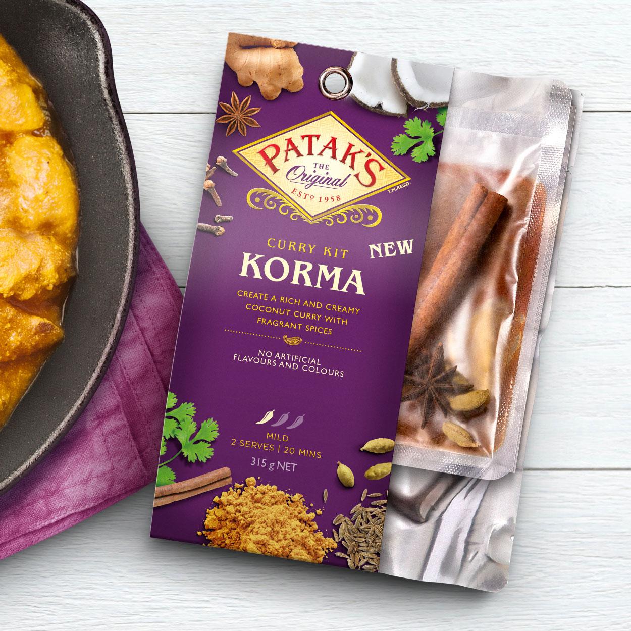 Pataks Curry Kit Meal Kit Davidson Branding We Grow FMCG Packaging