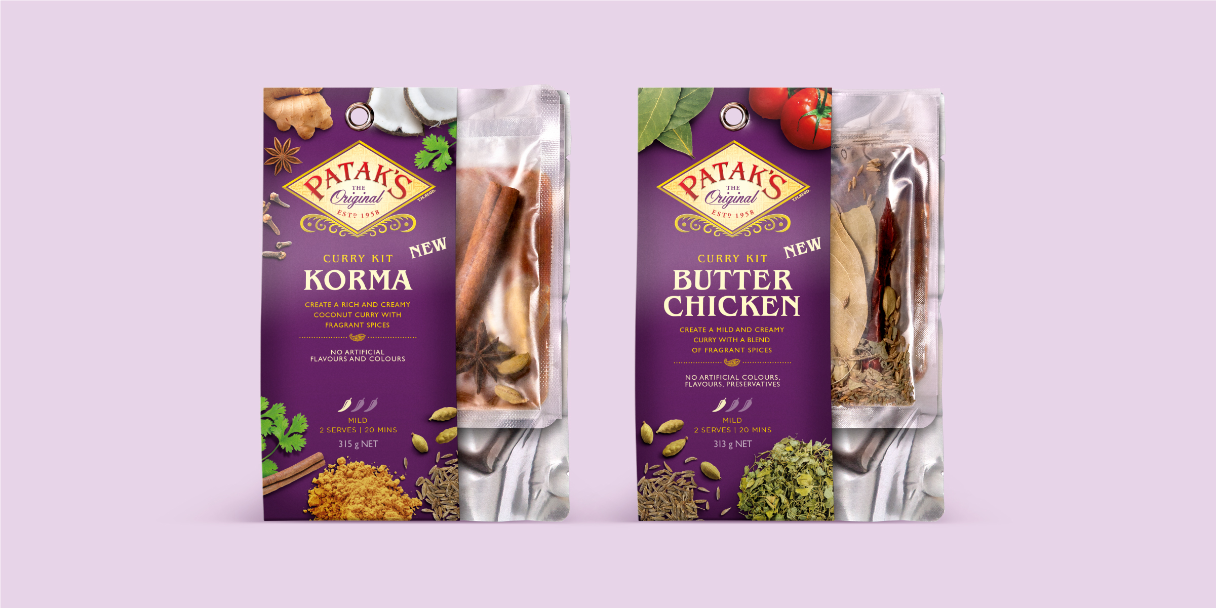 Pataks Curry Kit Meal Kit Davidson Branding We Grow FMCG Packaging