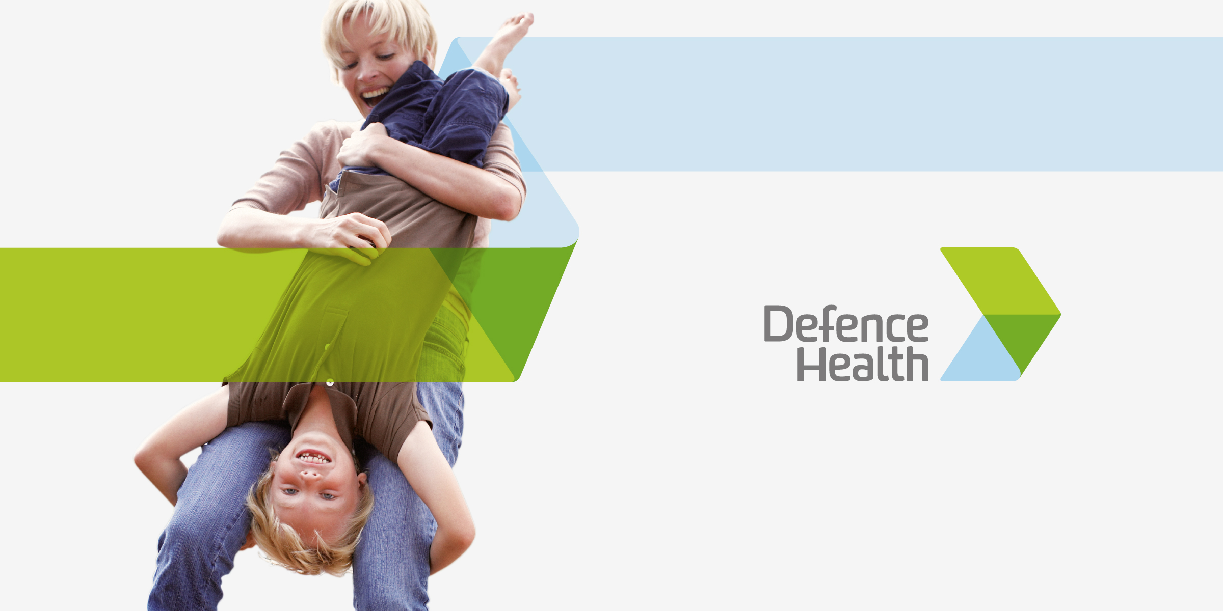 Defence Health Brand Identity, Brand Strategy and Design Parent and Child Playing