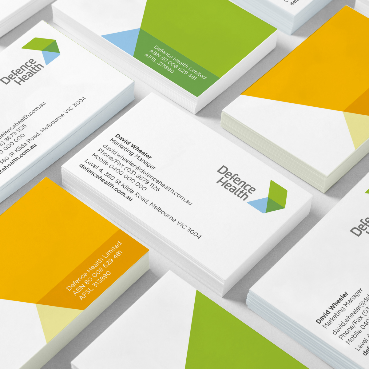 Defence Health Brand Identity, Brand Strategy and Business Card Design