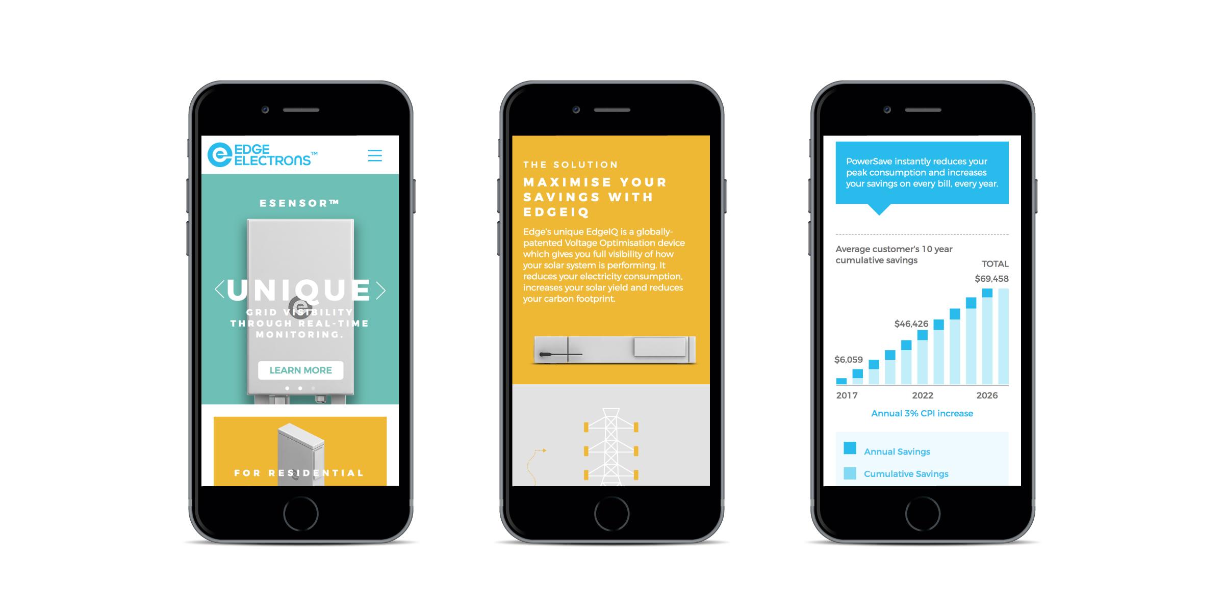 Davidson Branding Edge Electrons Responsive Mobile Website Design