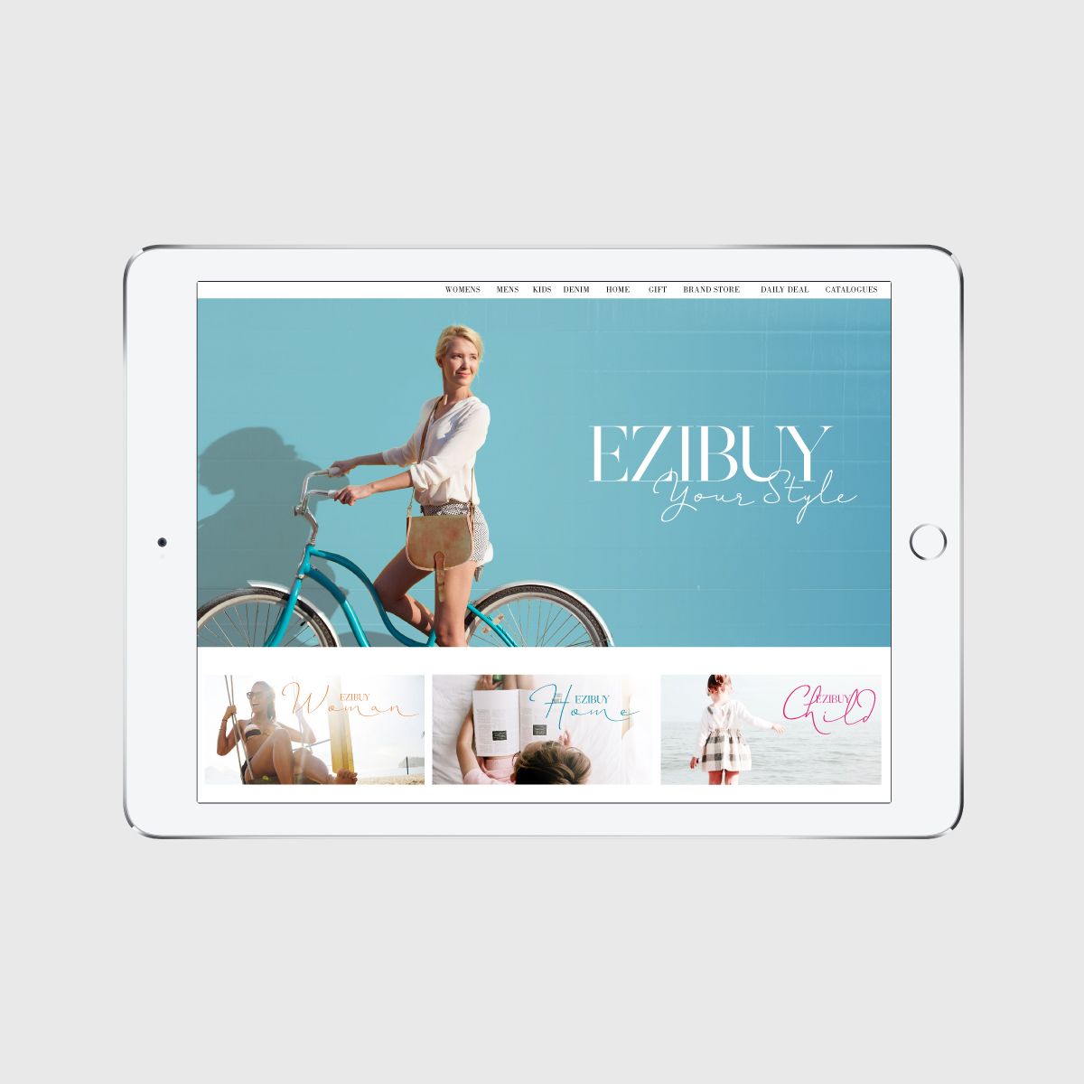 Ezibuy Brand Identity Mobile Website Home Page